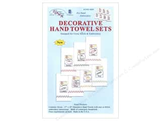 Clearance: Jack Dempsey Decorative Hand Towel Seed Packets 7 pc