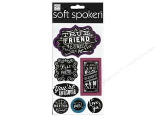 Me & My Big Ideas Soft Spoken Stickers Chalk True Friend