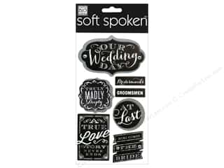 Me & My Big Ideas Soft Spoken Stickers Chalk Our Wedding Day