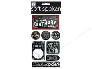 Me & My Big Ideas Soft Spoken Stickers Chalk Happy Birthday