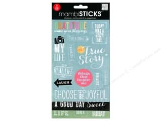 scrapbooking & paper crafts: Me&My Big Ideas Sticker Sticks Chalk Gratitude