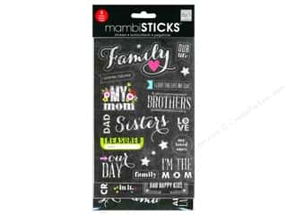 stickers: Me&My Big Ideas Sticker Sticks Chalk Family