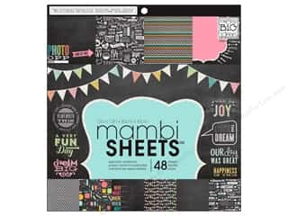 Me & My Big Ideas Sheets Cardstock Pad 12 x 12 in. Chalkboard