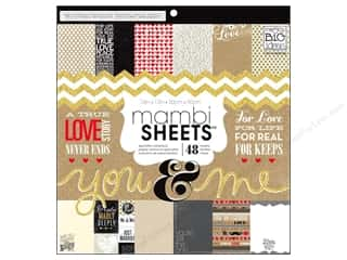scrapbooking & paper crafts: Me & My Big Ideas Sheets 12 x 12 in. Cardstock Pad You & Me