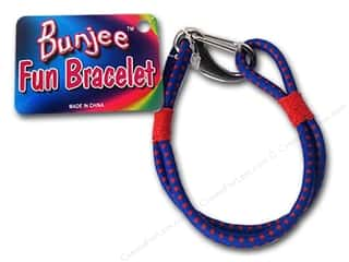 beading & jewelry making supplies: Pepperell Bungee Cord Bracelet Red/Blue