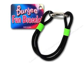 Weekly Specials Jewelry Making: Pepperell Bungee Cord Bracelet Black/Neon Green