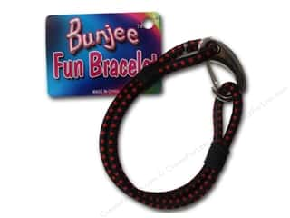 beading & jewelry making supplies: Pepperell Bungee Cord Bracelet Black/Red