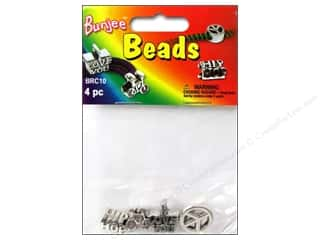beading & jewelry making supplies: Pepperell Bungee Cord Beads 4pc