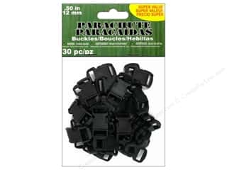 Pepperell Parachute Cord Accessories Buckle 1/2 in. Black 30 pc