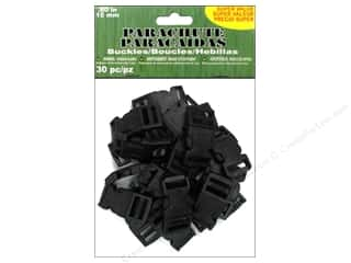 Pepperell Parachute Cord Buckle 15 mm Black 30 pc