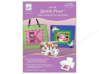 June Tailor Quick Fuse Iron-On Inkjet Fabric Sheets 3 pc. Cream