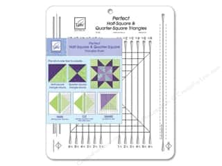 quilt rectangular square ruler: June Tailor Ruler Perfect Half-Square Triangles
