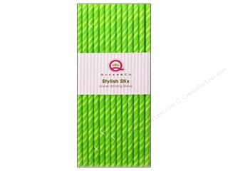 scrapbooking & paper crafts: Queen&Co Stylish Stix Juicy Stripes Kiwi Kiss 25pc
