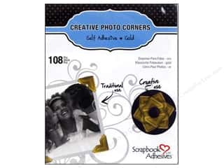 photo corner paper punch: 3L Scrapbook Adhesives Photo Corners Paper 108 pc. Gold