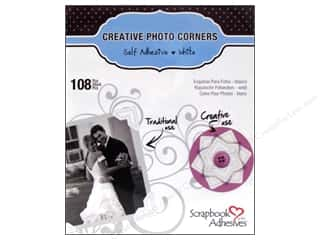 photo corner paper punch: 3L Scrapbook Adhesives Photo Corners Paper 108 pc. White