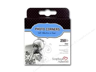 photo corner paper punch: 3L Scrapbook Adhesives Photo Corners Polypropylene 250 pc. Clear