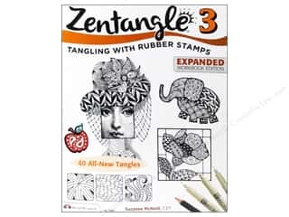 Zentangle 3: Tangling with Rubber Stamps Book - Expanded Workbook Edition
