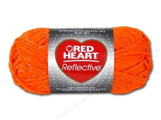 yarn & needlework: Red Heart Reflective Yarn 88 yd. #8251 Neon Orange
