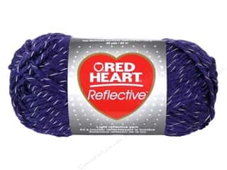 yarn & needlework: Red Heart Reflective Yarn #8532 Purple 88 yd.