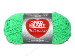 yarn & needlework: Red Heart Reflective Yarn 88 yd. #8671 Neon Green