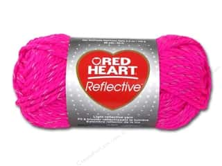 yarn & needlework: Red Heart Reflective Yarn 88 yd. #8704 Neon Pink