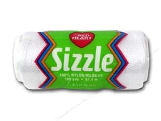 Red Heart Sizzle Crochet Nylon 100 yd. White
