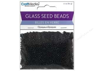 seed beads: Multicraft Bead Seed 12/0 Opaque Black