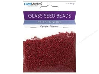 seed beads: Multicraft Bead Seed 12/0 Opaque Red
