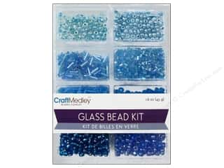 beading & jewelry making supplies: Multicraft Bead Glass Kit Mix The Blues