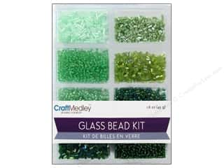 beading & jewelry making supplies: Multicraft Bead Glass Kit Mix Going Green