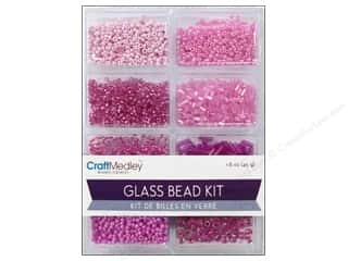 beading & jewelry making supplies: Multicraft Bead Glass Kit Mix Blush