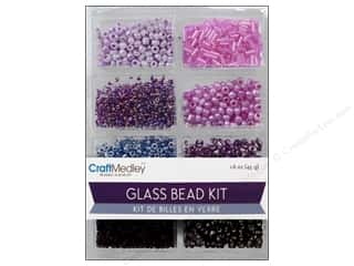 craft & hobbies: Multicraft Bead Glass Kit Mix Viola