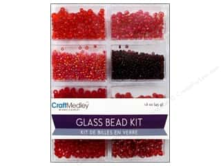 beading & jewelry making supplies: Multicraft Bead Glass Kit Mix Rouge