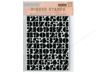 Rubber Stamps: BasicGrey Rubber Stamps Capture - Number Background