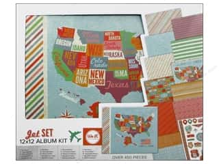 "Holiday Sale Printed Cardstock: We R Memory Album Kit 12""x 12"" Jet Set"
