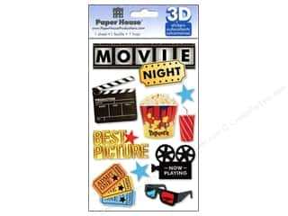 scrapbooking & paper crafts: Paper House 3D Stickers - Movie Night