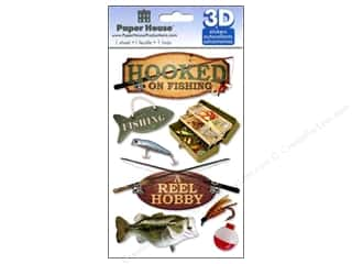 Paper House 3D Stickers - Fishing
