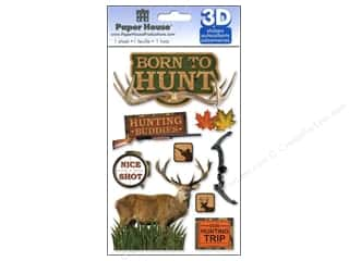 Paper House Sticker 3D Born to Hunt