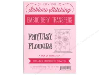 Sublime Stitching: Sublime Stitching Embroidery Transfers Fantasy Flowers