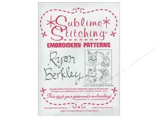 Sublime Stitching: Sublime Stitching Embroidery Transfers Ryan Berkely