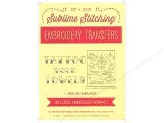 Sublime Stitching: Sublime Stitching Embroidery Transfers Tattoo Your Towels