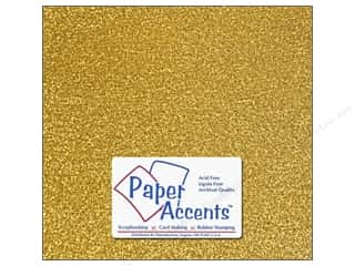 Paper Accents Adhesive Vinyl 12 x 12 in. Removable Sparkle Gold