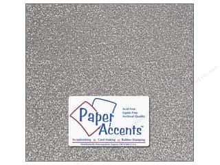 Paper Accents Adhesive Vinyl 12 x 12 in. Removable Sparkle Silver