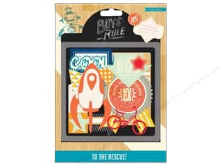 Crate Paper: Crate Paper Embellishments Boys Rule Vellum Shapes