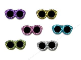 scrapbooking & paper crafts: Jesse James Dress It Up Embellishments Glitter Sunglasses