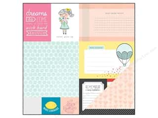 American Crafts 12 x 12 in. Paper Dear Lizzy Daydreamer Marbles (25 sheets)