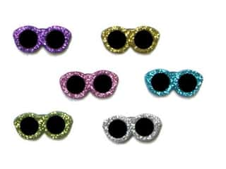 scrapbooking & paper crafts: Jesse James Embellishments - Glitter Sunglasses