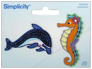 Simplicity Applique Iron On Dolphin/Seahorse