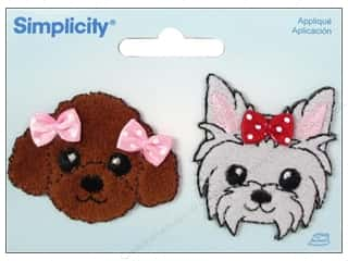 Simplicity Appliques Iron On Puppies with Bows