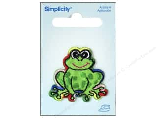 Simplicity Appliques Iron On Rainbow Frog